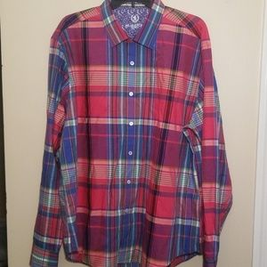 BUGATCHI UOMO | MEN'S PLAID SHIRT | XL/XXL
